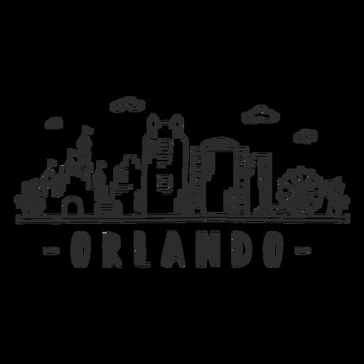 Orlando castle disneyland sky scraper skyline sticker Transparent PNG
