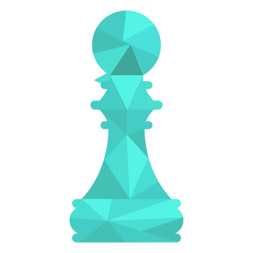Pawn chess low poly Transparent PNG