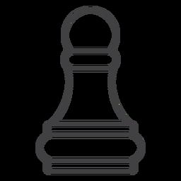 Golpe de ajedrez peón