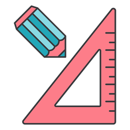 Lápis régua centímetro centímetro triângulo plana