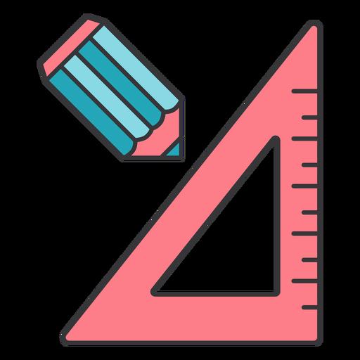 Lápiz regla centímetro centímetro triángulo plano Transparent PNG