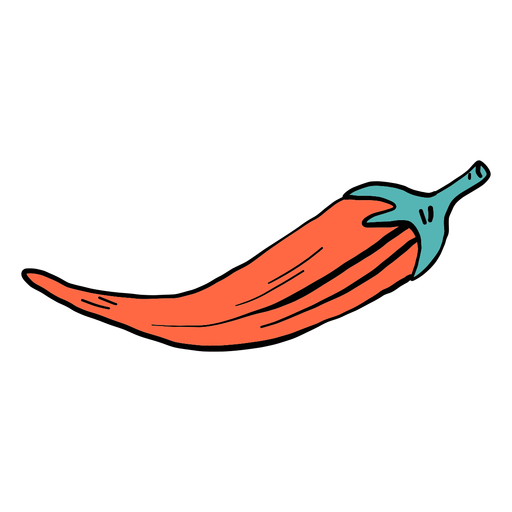 Pepper Chili Color Color Boceto Transparent PNG