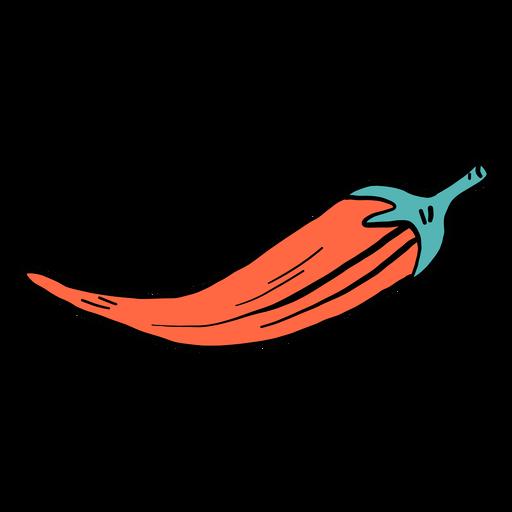 Pepper chilli color colour sketch Transparent PNG