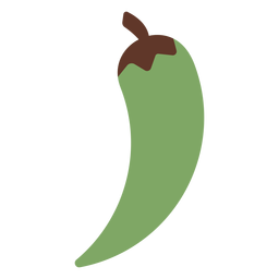 Pepper chilli green flat
