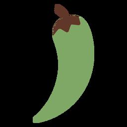 Pimiento chile verde plano