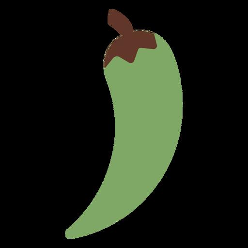Pepper chilli green flat Transparent PNG