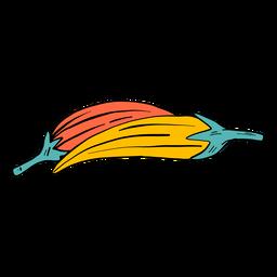 Croqui de pimenta dois par esboço de cor