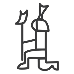Person-Kniekronengotteszepter-Zepteranschlag