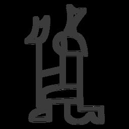 Pessoa, joelho, coroa, divindade, cetro, cetro, acidente vascular cerebral