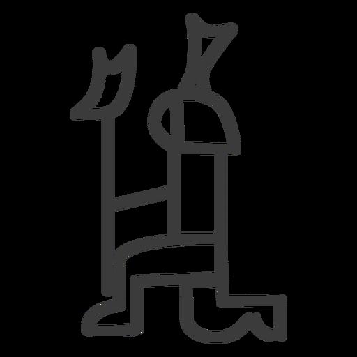 Persona rodilla corona divinidad cetro cetro trazo Transparent PNG