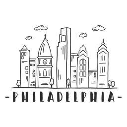 Filadélfia catedral igreja torre cúpula centro de negócios céu raspador shopping nuvem skyline adesivo