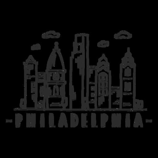Pegatina del horizonte de la nube del centro comercial centro de negocios de la cúpula de la torre de la catedral de Filadelfia Transparent PNG