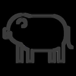 Schweineohr Fett Schnauze Gottheit Schlaganfall