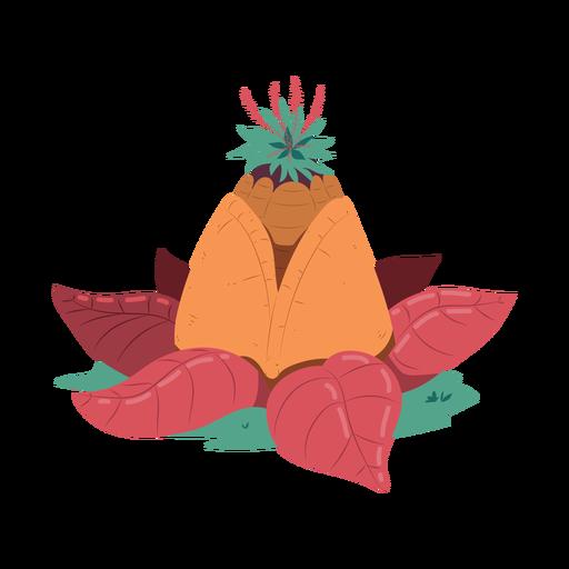 Ilustración de pirámide de hoja de piña Transparent PNG