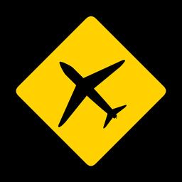 Flache Flugzeugjet-Flugzeugflugzeugraute, die flach warnt