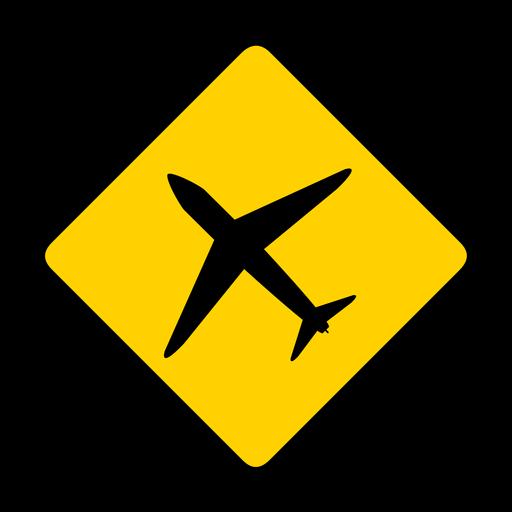 Plane airplane jet aeroplane aircraft rhomb warning flat Transparent PNG