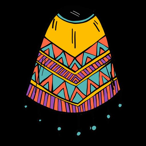 Esboço da cor da cor da franja do poncho Transparent PNG