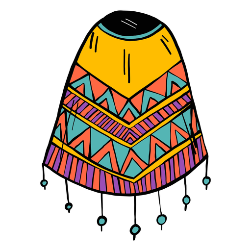 Poncho flecos color color sketch Transparent PNG
