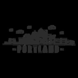 Ponte de Portland ponte torre de negócios centro de negócios céu raspador shopping nuvem skyline adesivo
