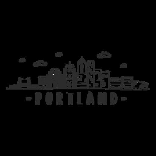 Portland bridge palm tower business center sky scraper mall cloud skyline sticker Transparent PNG