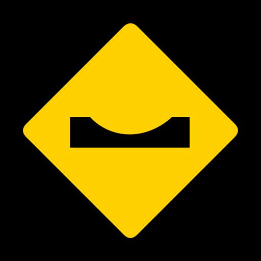 Bache advertencia de bache plana Transparent PNG