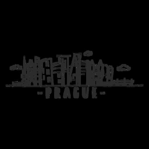 Prague bridge dome tower castle museum skyline sticker
