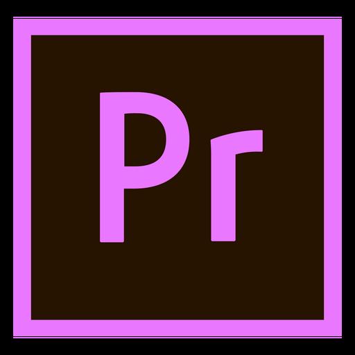 Premiere Pro farbiges Symbol Transparent PNG