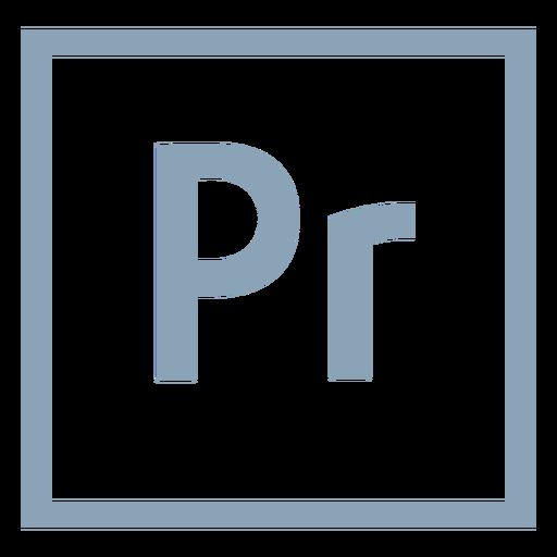 Premiere Pro PR-Symbol Transparent PNG