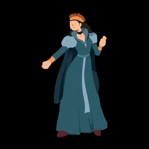 Princesa rainha coroa vestido colar manto ilustração Transparent PNG