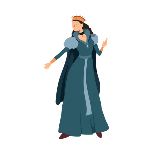 Princess queen crown dress necklace cloak illustration Transparent PNG