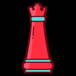 Königin Schach flach