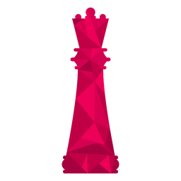 Rainha xadrez baixo poli