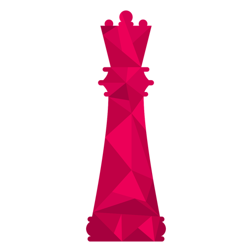 Queen chess low poly Transparent PNG
