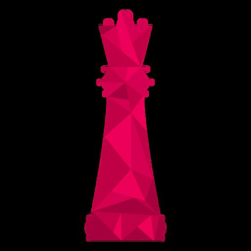 Rainha xadrez baixo poli Transparent PNG