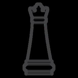 Traço de xadrez rainha