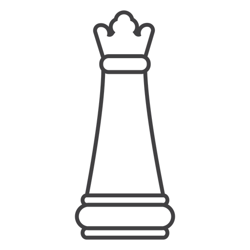 Queen chess stroke Transparent PNG