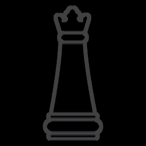Traço de xadrez rainha Transparent PNG
