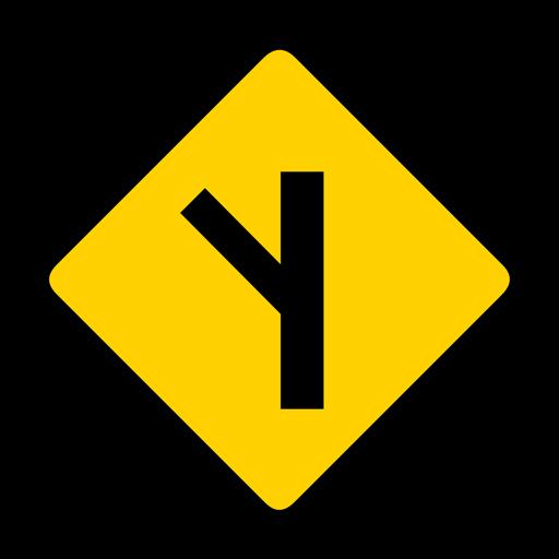 Aviso de estrada lateral Rhomb plana Transparent PNG