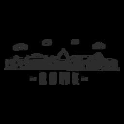 Rom-Bogenpantheonkolosseumsäulenbasilika-Skylineaufkleber