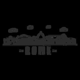 Rom-Pantheonbogen-Kolosseumsäulenbasilika-Skylineaufkleber