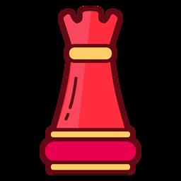 Torre de ajedrez del castillo de la torre.