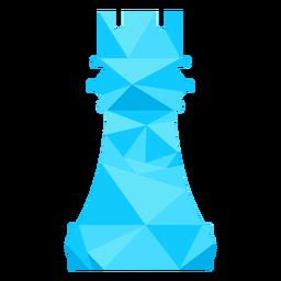 Torre de ajedrez castillo ajedrez bajo poli.