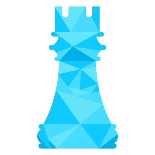 Rook castle chess low poly Transparent PNG