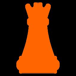 Silhueta de xadrez castelo torre