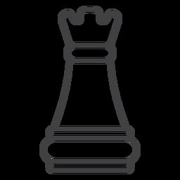 Torrezo de ajedrez del castillo de ajedrez.