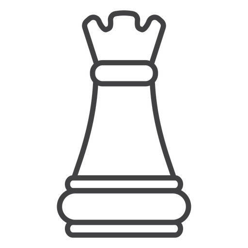 Rook castle chess stroke Transparent PNG