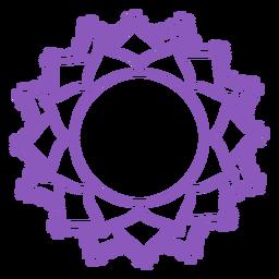 Sahasrara chakra icono de trazo