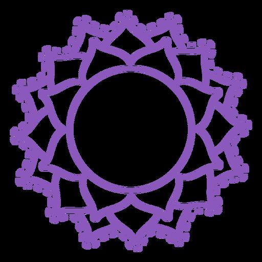 Sahasrara chakra stroke icon Transparent PNG