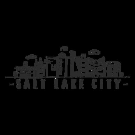 Salt lake city skyline sticker Transparent PNG