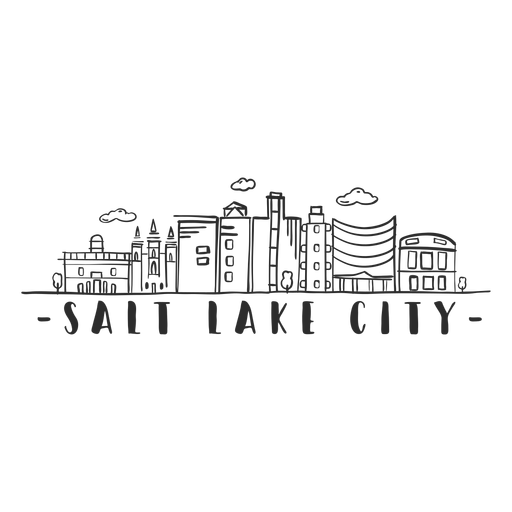 Salt lake city temple museum university mormon sky scraper dome mall business center cloud skyline sticker Transparent PNG